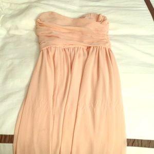 Lulu's XS blush long dress, worn once